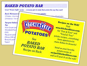 Baked Potato Bar Recipe Card